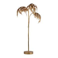 Destin Palm Floor Lamp, Antique Gold