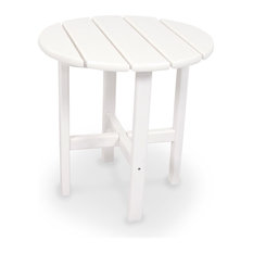 """Ivy Terrace Classics 18"""" Round Side Table, White"""