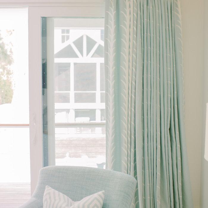 Laura Boyd Interior Design | Old Village Charleston Pool House Drapery