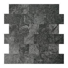 Peel and Stick Metal Backsplash Tile Mosic Brush Wall Decor, A16503