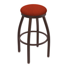802 Misha 30-inch Swivel Bar Stool With Bronze And Graph Poppy Seat