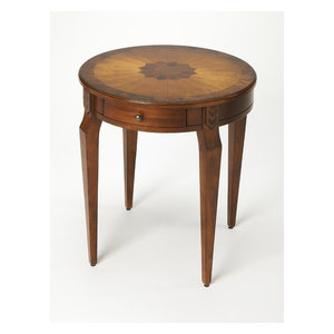 Butler Side Table, Olive Ash Burl