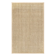 nuLOOM Hesse Checker Weave Seagrass Indoor/Outdoor Area Rug, Natural, 3'x5'