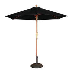 Cafe Parasol Sunshade Outdoor, Black