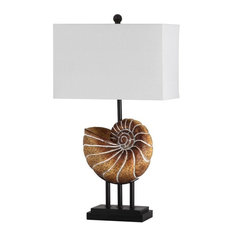 "Safavieh Nautilus 28"" High Shell Table Lamp, Set of 2"