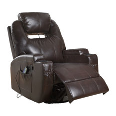 ACME Waterlily Rocker Recliner with Swivel (Motion), Brown PU