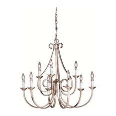 Kichler Lighting Dover - Nine Light Chandelier, Brushed Nickel Finish
