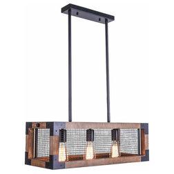 Industrial Kitchen Island Lighting by Five Oaks Furniture