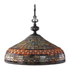Traditional Jewelst1 3-Light Pendant, Classic Bronze