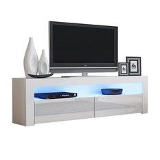 "TV Stand Milano Classic White Body Modern 65"" TV Stand LED, White"