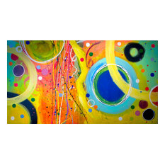 "Filippo Ioco ""Carnival"", 60""x108"" Original on Canvas"