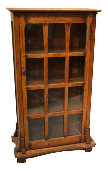 amish bookcase medium mission furniture style with indiana doors two