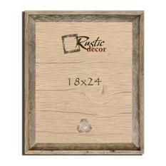 "Thurston Signature Rustic Barn Wood Reclaimed Wood Wall Frame, 18""x24"""