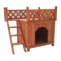 ALEKO Wooden Dog Kennel, Cedar Pet Home