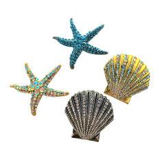 Sea-Beach-Coastal-Shell-Starfish Decorating Pins