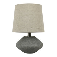 High Quality Urbanest   Urbanest Roccio 10 Inch Accent Table Lamp In Natural Stone  Finish   Table