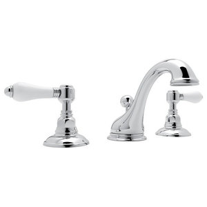 Rohl Viaggio 1.2 GPM Lavatory Faucet with 2 Lever Handles, Polished Chrome