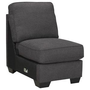Alenya Armless Chair, Charcoal