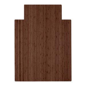 "Anji Mountain Bamboo Roll-Up Chairmat, 36""x48"" With Lip"