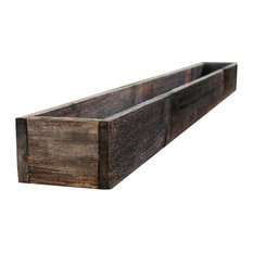 """44"""" Rustic Planters Box, Tall Version, Aged Rustic, 6"""""""