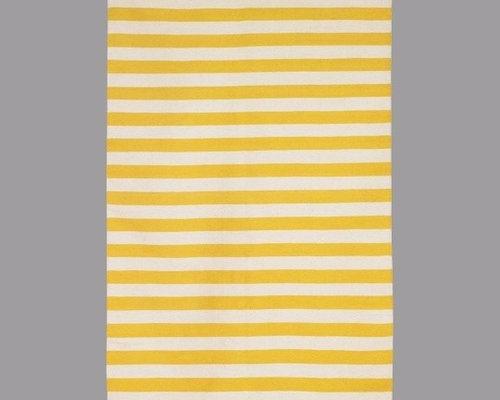 Dwellstudio Draper Stripe Citrine/Cream Rug   Rugs