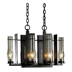 New Town 6-Arm Chandelier, Natural Iron