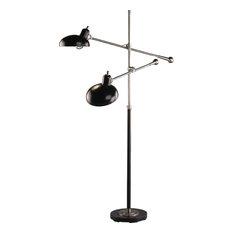 Cordless Floor Lamp: Robert Abbey - Robert Abbey Bruno 2-Light Floor Lamp, Bronze - Floor Lamps,Lighting