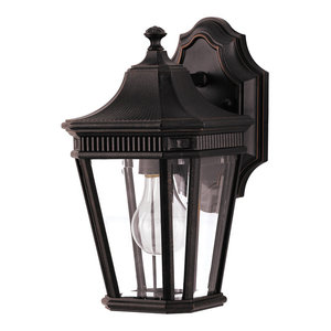 OL5400 Cotswold Lane 1-Light Outdoor Lantern, Grecian Bronze