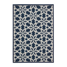 Nourison Caribbean Indoor Outdoor Area Rug Navy 9 3 X12