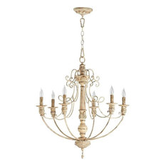 Six Light Persian White Up Chandelier