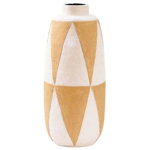 Thin Ceramic Geometric Vase