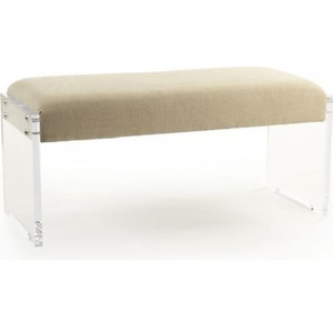 Meline Bench Contemporary Upholstered Benches By Euroluxhome Houzz