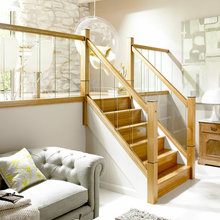 Oak and Glass Staircase Ideas