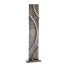 Cyan Barbican Sculpture 10086, Silver