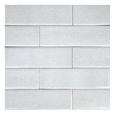2x8 Oxford Crackle Subway Tile, Off White