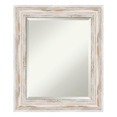 Amanti Art Bathroom Mirror Medium Alexandria Whitewash 21 X25
