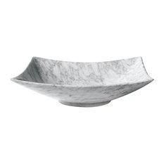 "Avanity 20"" Rectangular Stone Vessel, Carrara White Marble"