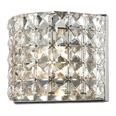 Z Lite Panache 1 Light Crystal Vanity Fixture Chrome With Clear