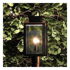 Luxury Art Deco Post Light, Chesterfield Series, Oil Rubbed Bronze