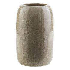 """Urbina Ceramic Table Vase, Olive, 7.5""""x 7.5""""x 10.8"""""""
