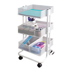 Charmant Advantus Corp   Craft Cart, White   Office Carts And Stands