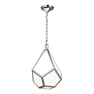 Polished Nickel Small Pendant - 1 x 75W E27