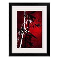 """Bamboo Style"" Black Framed Art Print, 20""x26""x1"""