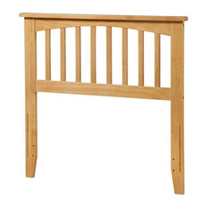 Atlantic Furniture Mission Twin Spindle Headboard, Natural