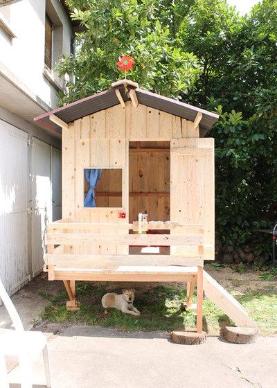 Deux cabanes de jardin faites maison pour le bonheur des enfants - Cabane de jardin fait maison saint paul ...