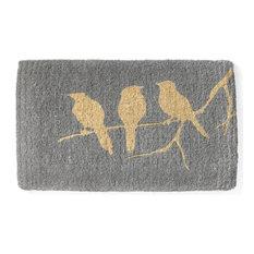 """Birds On Branch Doormat, Handwoven, 18""""x30"""""""