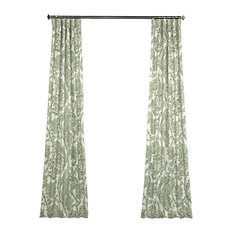 "Tea Time Green Blackout Curtain, Set of 2, 50""x108"""