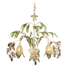 Seashell 3-Light Chandelier, Huarco Collection
