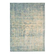 Verve Rectangular Funky Rug, Blue, 160x250 cm