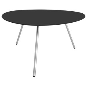 Low Dine-Alowha Dining Table, Black, Stainless Steel Frame